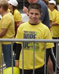 Justin at the 2011 Race Hope DC