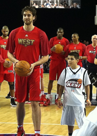 Photo: Justin and Gasol